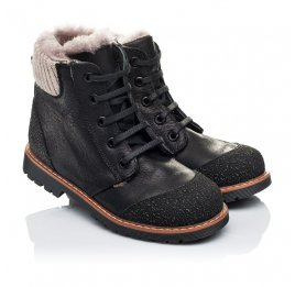 Детские зимние ботинки на меху Woopy Orthopedic черные для мальчиков натуральная кожа размер 31-31 (3277) Фото 1