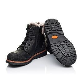Детские зимние ботинки на меху Woopy Orthopedic черные для мальчиков натуральная кожа размер 31-31 (3277) Фото 2