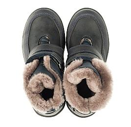 Детские зимние ботинки на меху Woopy Orthopedic синие для мальчиков натуральная кожа размер - (3279) Фото 5