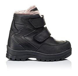 Детские зимние ботинки на меху Woopy Orthopedic черные для мальчиков натуральный нубук OIL размер - (3283) Фото 4