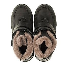 Детские зимние ботинки на меху Woopy Orthopedic черные для мальчиков натуральный нубук OIL размер - (3283) Фото 5