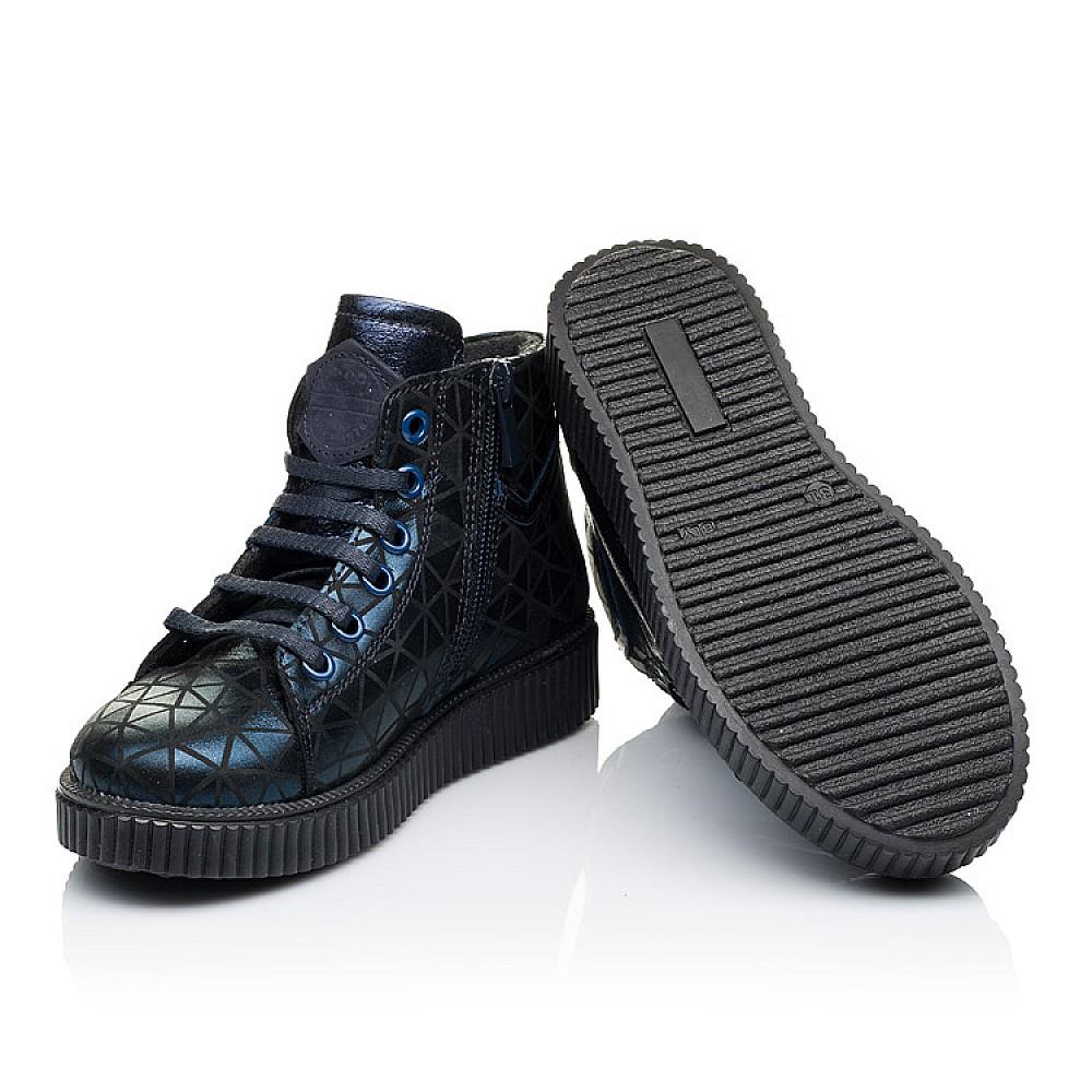Детские демисезонные ботинки Woopy Orthopedic темно-синие для девочек натуральный нубук размер 31-36 (3288) Фото 2