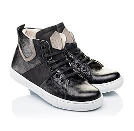 Детские демисезонные ботинки (подкладка кожа) Woopy Orthopedic черные для девочек натуральная кожа размер 31-40 (3289) Фото 1