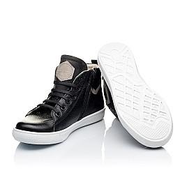 Детские демисезонные ботинки (подкладка кожа) Woopy Orthopedic черные для девочек натуральная кожа размер 34-40 (3289) Фото 2