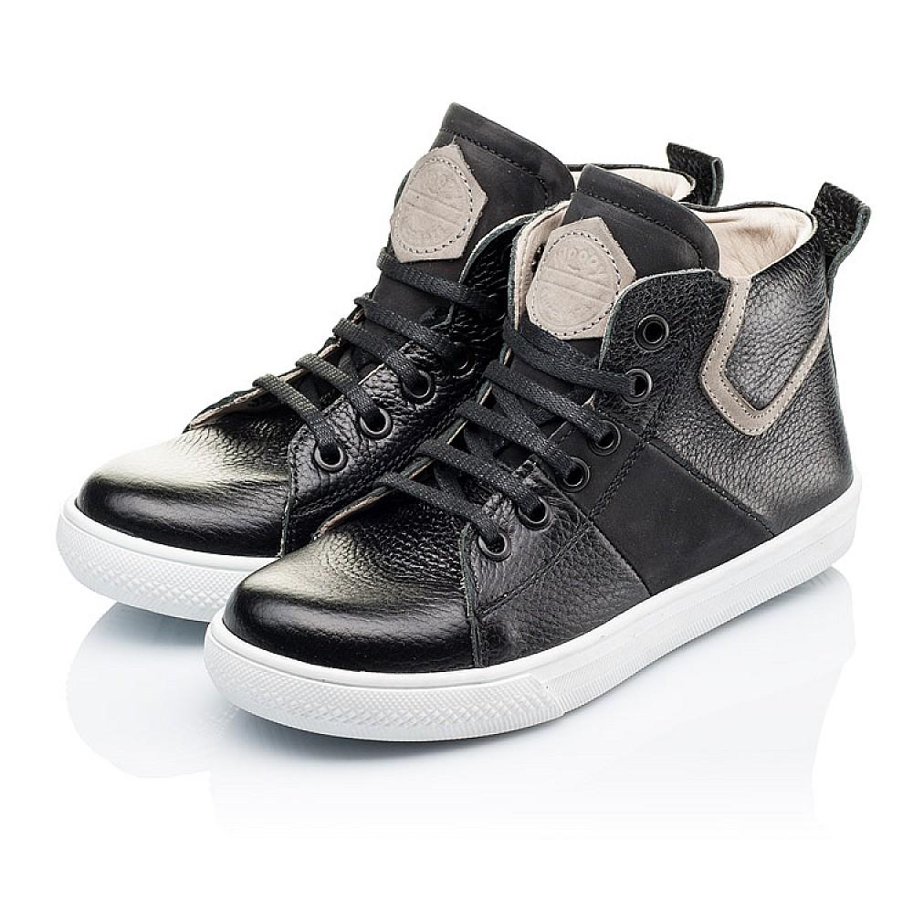 Детские демисезонные ботинки (подкладка кожа) Woopy Orthopedic черные для девочек натуральная кожа размер 31-40 (3289) Фото 3