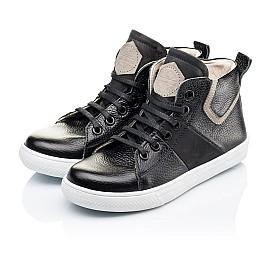 Детские демисезонные ботинки (подкладка кожа) Woopy Orthopedic черные для девочек натуральная кожа размер 34-40 (3289) Фото 3