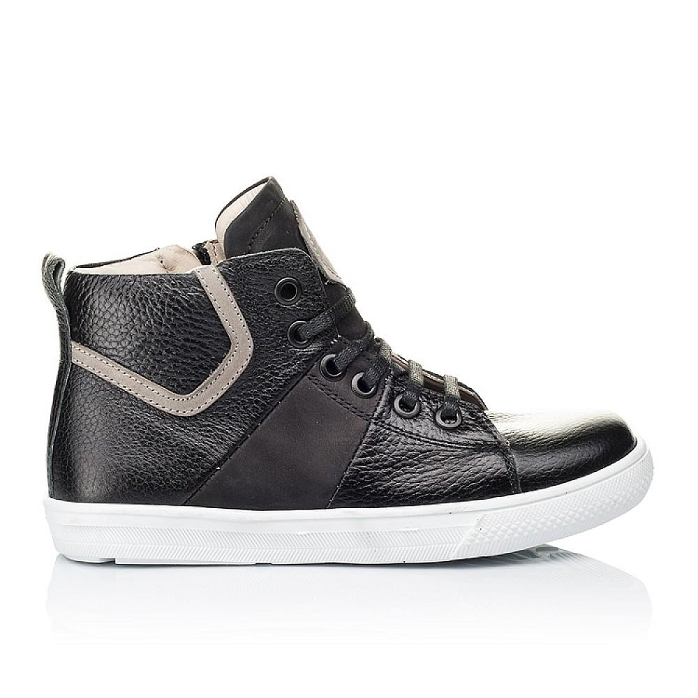Детские демисезонные ботинки (подкладка кожа) Woopy Orthopedic черные для девочек натуральная кожа размер 31-40 (3289) Фото 4
