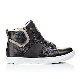 Детские демисезонные ботинки (подкладка кожа) Woopy Orthopedic черные для девочек натуральная кожа размер 34-40 (3289) Фото 4