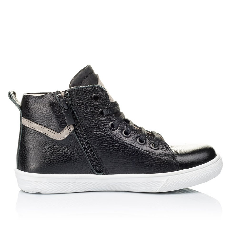 Детские демисезонные ботинки (подкладка кожа) Woopy Orthopedic черные для девочек натуральная кожа размер 31-40 (3289) Фото 5