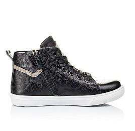 Детские демисезонные ботинки (подкладка кожа) Woopy Orthopedic черные для девочек натуральная кожа размер 34-40 (3289) Фото 5