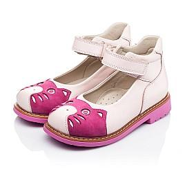 Детские туфли ортопедические Woopy Orthopedic розовые для девочек натуральная кожа и нубук размер 21-21 (3290) Фото 3