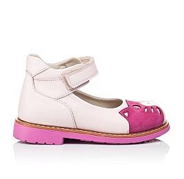 Детские туфли ортопедические Woopy Orthopedic розовые для девочек натуральная кожа и нубук размер 21-21 (3290) Фото 4