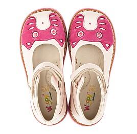 Детские туфли ортопедические Woopy Orthopedic розовые для девочек натуральная кожа и нубук размер 21-21 (3290) Фото 5