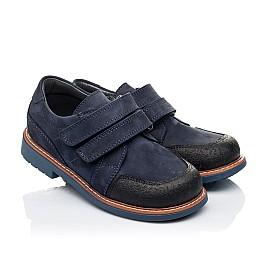 Детские туфли Woopy Orthopedic темно-синие для мальчиков натуральный нубук размер 28-34 (3291) Фото 1