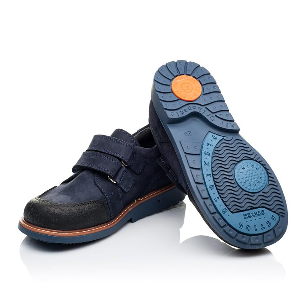 Детские туфли Woopy Orthopedic темно-синие для мальчиков натуральный нубук размер 26-34 (3291) Фото 2