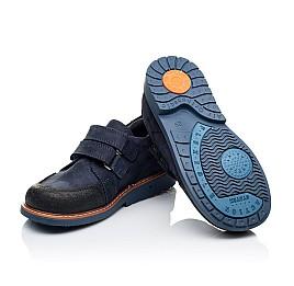 Детские туфли Woopy Orthopedic темно-синие для мальчиков натуральный нубук размер 28-34 (3291) Фото 2