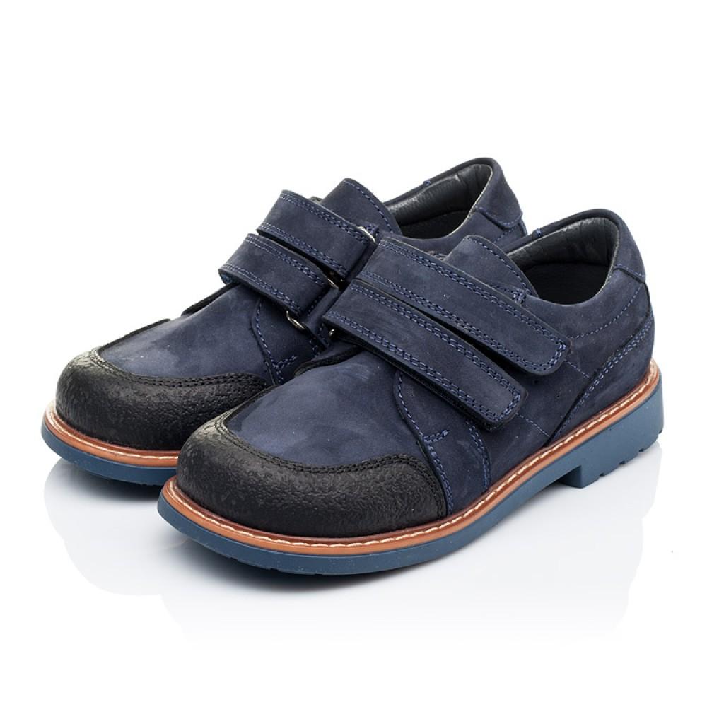 Детские туфли Woopy Orthopedic темно-синие для мальчиков натуральный нубук размер 26-34 (3291) Фото 3