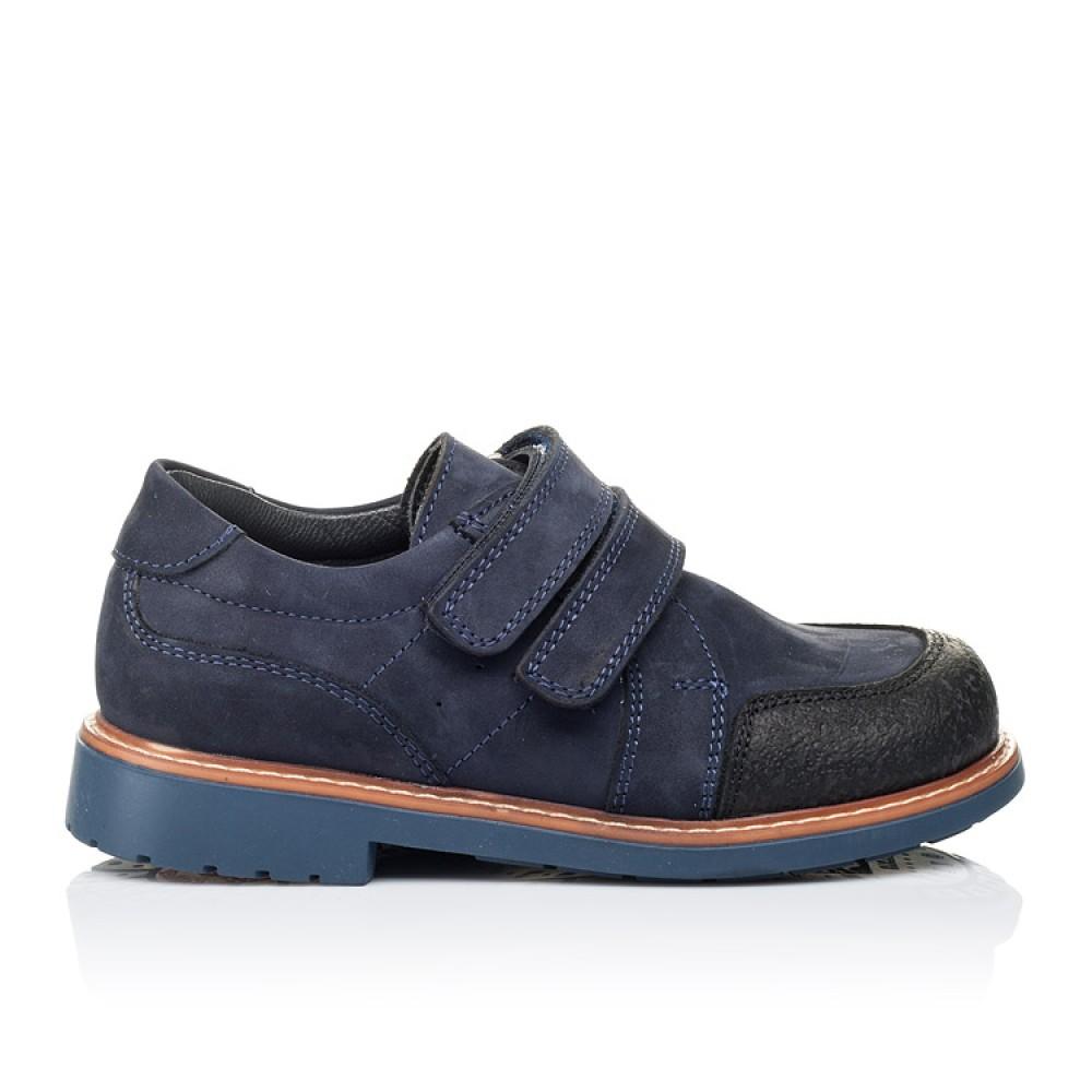 Детские туфли Woopy Orthopedic темно-синие для мальчиков натуральный нубук размер 26-34 (3291) Фото 4