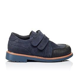 Детские туфли Woopy Orthopedic темно-синие для мальчиков натуральный нубук размер 28-34 (3291) Фото 4
