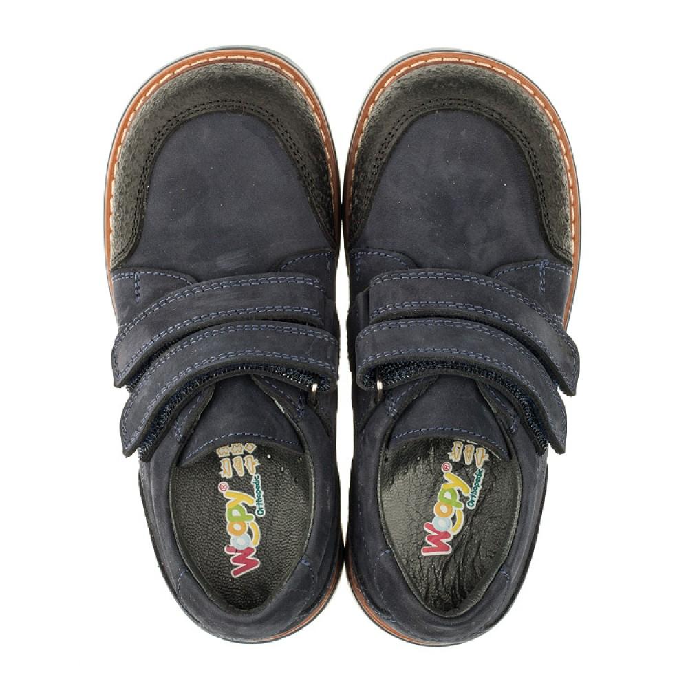 Детские туфли Woopy Orthopedic темно-синие для мальчиков натуральный нубук размер 26-34 (3291) Фото 5