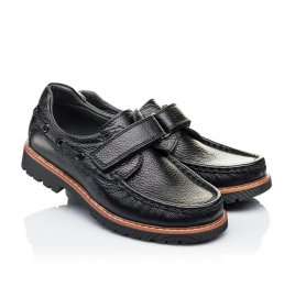 Детские туфли Woopy Orthopedic черные для мальчиков натуральная кожа размер 29-38 (3294) Фото 1