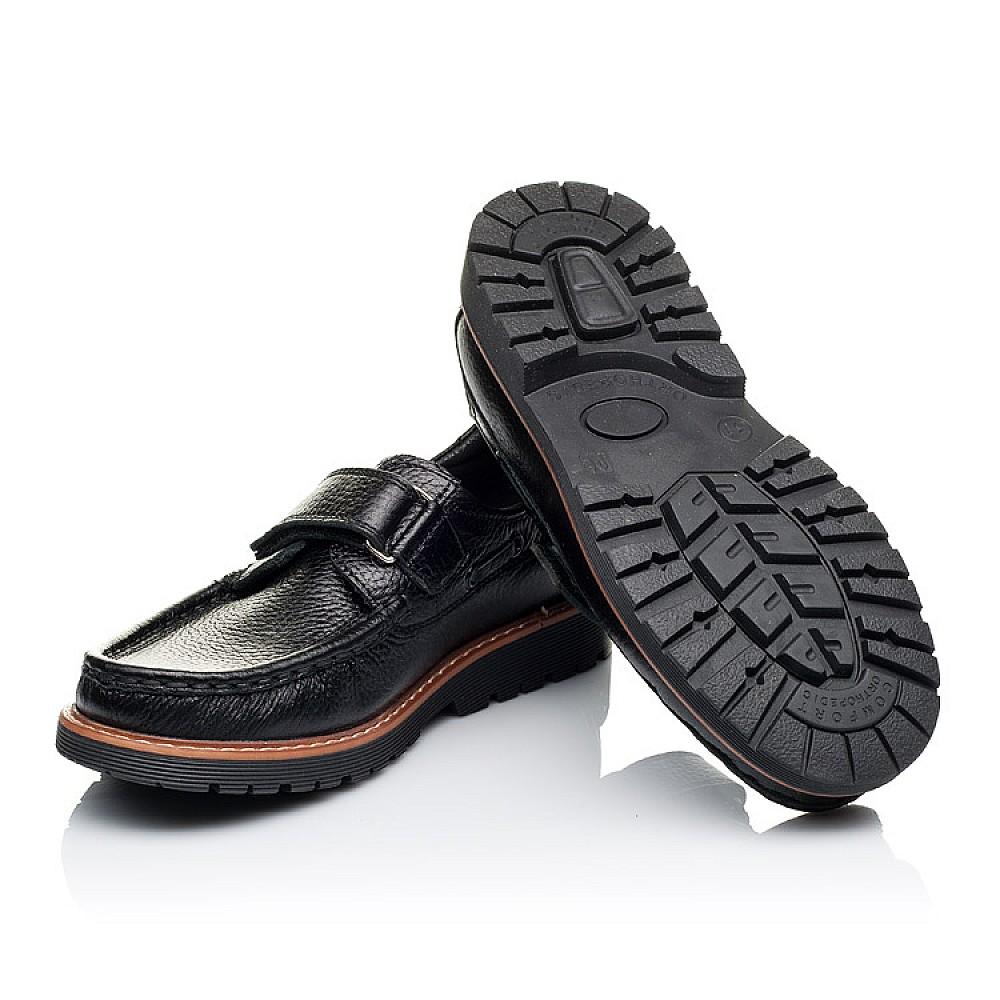 Детские туфли Woopy Orthopedic черные для мальчиков натуральная кожа размер 29-39 (3294) Фото 2