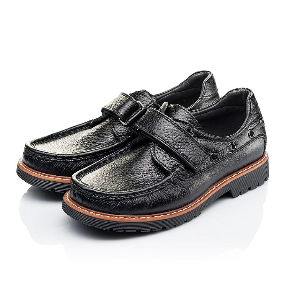 Детские туфли Woopy Orthopedic черные для мальчиков натуральная кожа размер 29-39 (3294) Фото 3