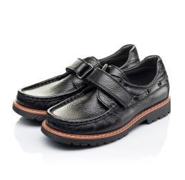 Детские туфли Woopy Orthopedic черные для мальчиков натуральная кожа размер 29-38 (3294) Фото 3