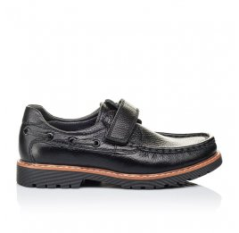 Детские туфли Woopy Orthopedic черные для мальчиков натуральная кожа размер 29-38 (3294) Фото 4