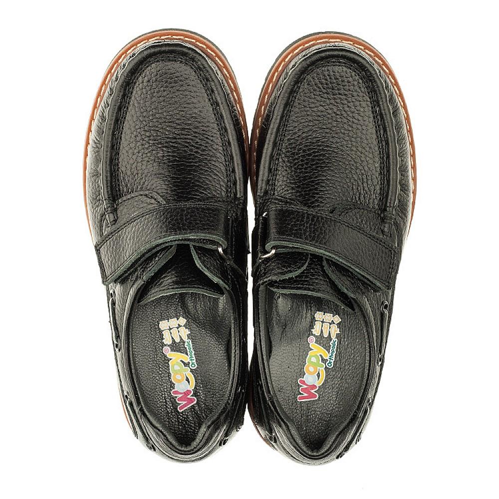 Детские туфли Woopy Orthopedic черные для мальчиков натуральная кожа размер 29-39 (3294) Фото 5