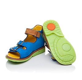 Детские ортопедические босоножки Woopy Orthopedic голубые, разноцветные для мальчиков натуральный нубук размер 18-21 (3300) Фото 2