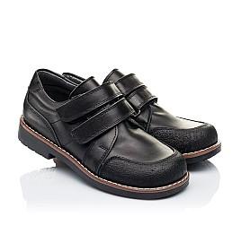 Детские туфли Woopy Orthopedic черные для мальчиков натуральная кожа размер - (3303) Фото 1