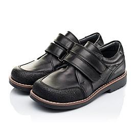 Детские туфли Woopy Orthopedic черные для мальчиков натуральная кожа размер - (3303) Фото 3