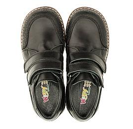 Детские туфли Woopy Orthopedic черные для мальчиков натуральная кожа размер - (3303) Фото 5