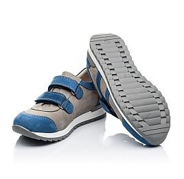 Детские кроссовки Woopy Orthopedic серые, синие для мальчиков натуральный нубук размер 39-39 (3304) Фото 2