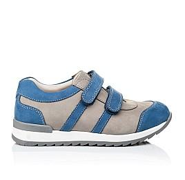 Детские кроссовки Woopy Orthopedic серые, синие для мальчиков натуральный нубук размер 39-39 (3304) Фото 4