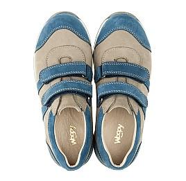 Детские кроссовки Woopy Orthopedic серые, синие для мальчиков натуральный нубук размер 39-39 (3304) Фото 5