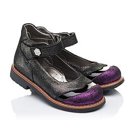 Детские туфли ортопедические Woopy Orthopedic черные для девочек натуральная кожа размер 26-26 (3308) Фото 1