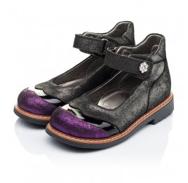 Детские туфли ортопедические Woopy Orthopedic черные для девочек натуральная кожа размер 26-26 (3308) Фото 3