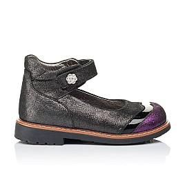 Детские туфли ортопедические Woopy Orthopedic черные для девочек натуральная кожа размер 26-26 (3308) Фото 4