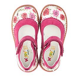 Детские туфли ортопедические Woopy Orthopedic розовые для девочек натуральная кожа размер 20-23 (3311) Фото 5