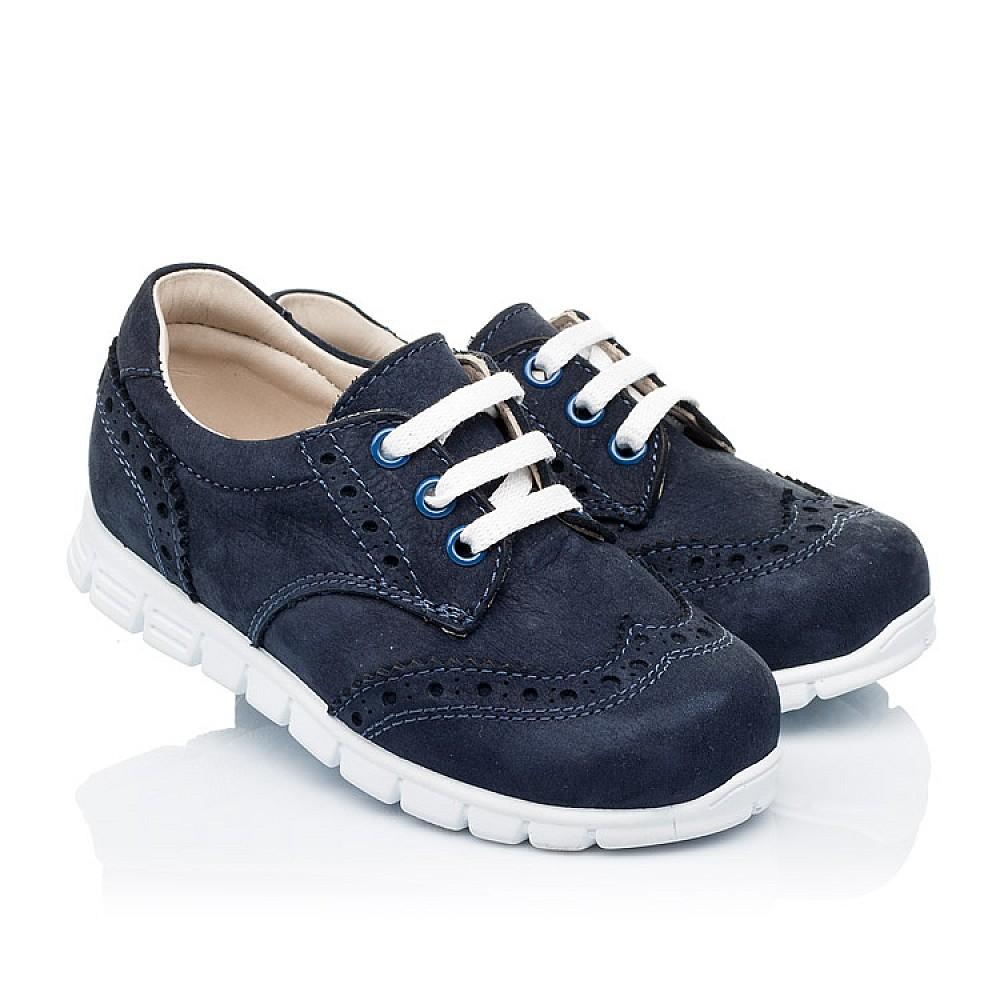 Детские кроссовки Woopy Orthopedic темно-синие для девочек натуральный нубук размер 18-24 (3313) Фото 1