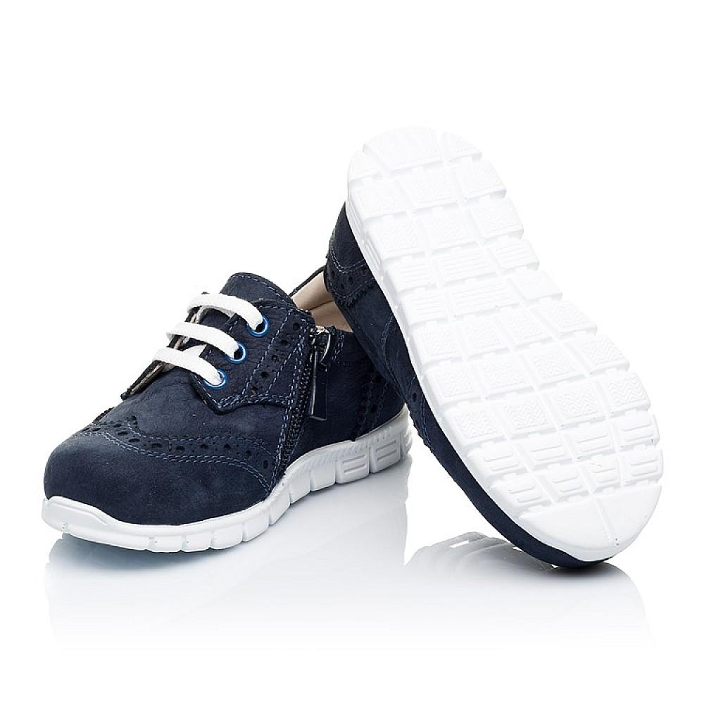 Детские кроссовки Woopy Orthopedic темно-синие для девочек натуральный нубук размер 18-24 (3313) Фото 2