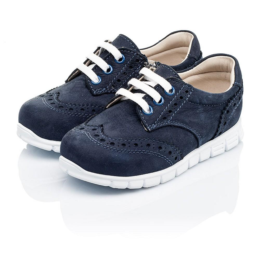 Детские кроссовки Woopy Orthopedic темно-синие для девочек натуральный нубук размер 18-24 (3313) Фото 3