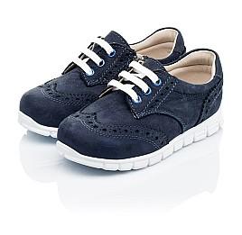 Детские кроссовки Woopy Orthopedic темно-синие для девочек натуральный нубук размер 18-23 (3313) Фото 3