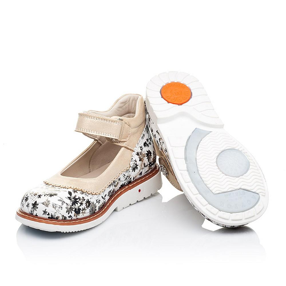 Детские туфли ортопедические Woopy Orthopedic белые, золотые для девочек натуральная кожа размер 20-30 (3315) Фото 2