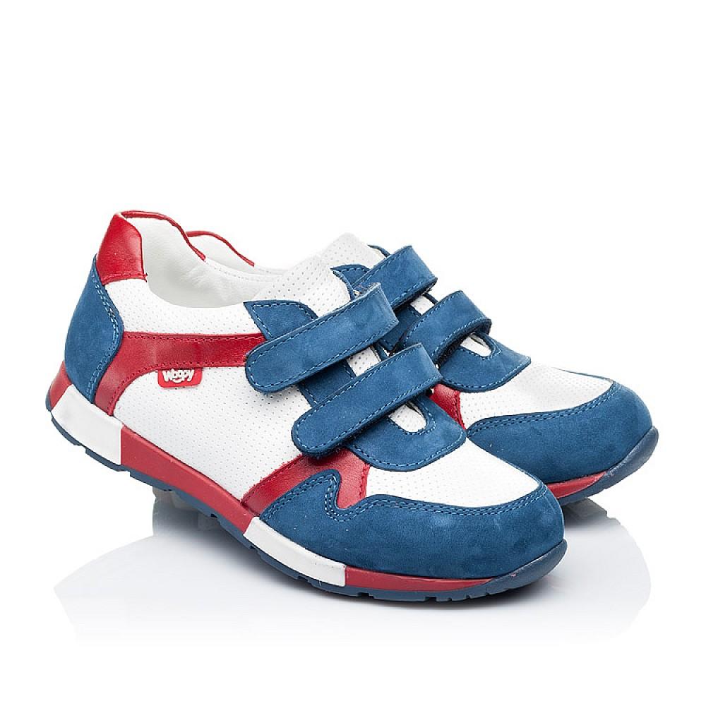 Детские кроссовки Woopy Orthopedic синие, белые, красные для мальчиков натуральная кожа и нубук размер 18-30 (3317) Фото 1