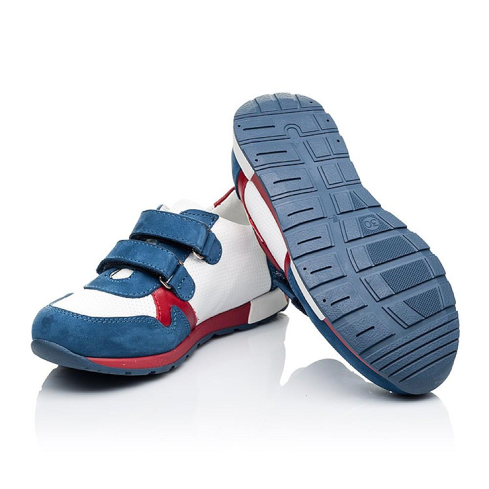 Детские кроссовки Woopy Orthopedic синие, белые, красные для мальчиков натуральная кожа и нубук размер 18-30 (3317) Фото 2