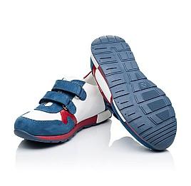 Детские кроссовки Woopy Orthopedic синие, белые, красные для мальчиков натуральная кожа и нубук размер 18-18 (3317) Фото 2