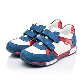 Детские кроссовки Woopy Orthopedic синие, белые, красные для мальчиков натуральная кожа и нубук размер 18-18 (3317) Фото 3